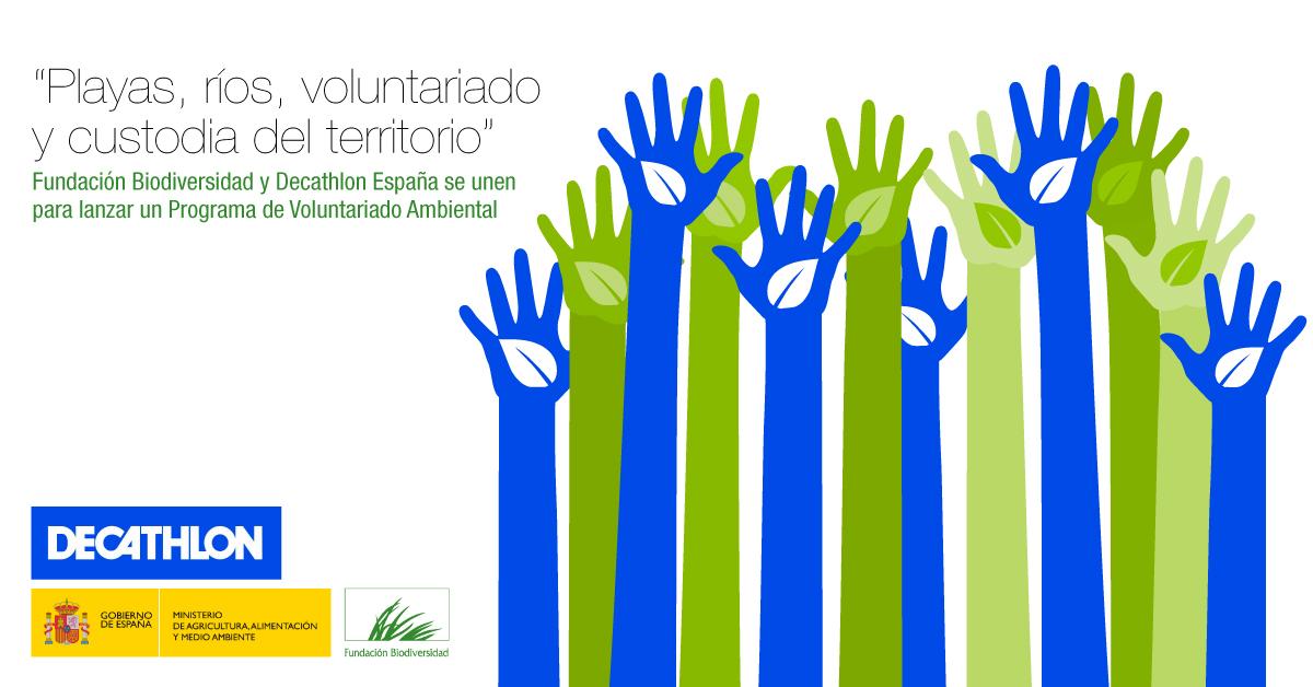 Fundación Biodiversidad del Ministerio de Agricultura y Decathlon colaboran para programa de voluntariado